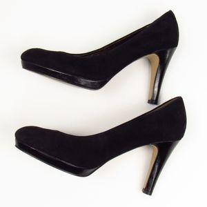 Enzo Angiolini Suede Black Heels 8M